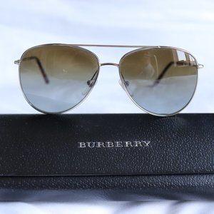 Burberry Aviators - Burberry Plaid Arms - Brown